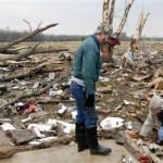 Voldsomt tornadoudbrud over det sydøstlige USA