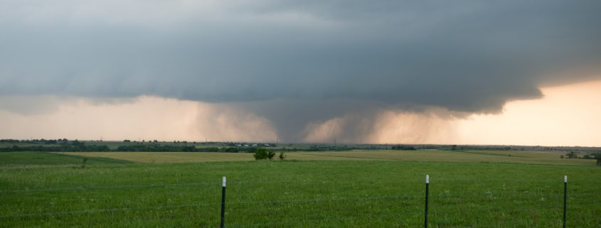 Large long-lived and long tracking tornado on the ground!
